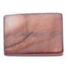 Shell Rectangular 15x20mm Dark Copper